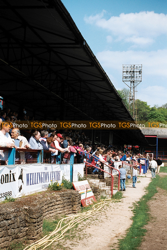 General view of Aldershot Town FC Football Ground, The Recreation Ground, Aldershot, Hampshire, pictured on 6th May 1996