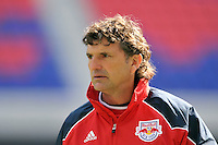 New York Red Bulls assistant coach Jan Halvor Halvorsen during practice on Media Day at Red Bull Arena in Harrison, NJ, on March 15, 2011.