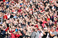 Liverpool fans show their support as Alex Oxlade-Chamberlain joins the action<br /> <br /> Photographer Rich Linley/CameraSport<br /> <br /> The Premier League - Liverpool v Wolverhampton Wanderers - Sunday 12th May 2019 - Anfield - Liverpool<br /> <br /> World Copyright © 2019 CameraSport. All rights reserved. 43 Linden Ave. Countesthorpe. Leicester. England. LE8 5PG - Tel: +44 (0) 116 277 4147 - admin@camerasport.com - www.camerasport.com