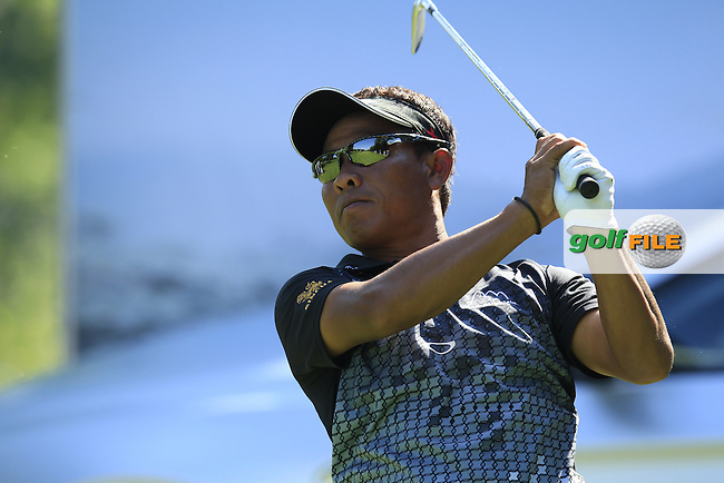 Thongchai Jaidee (THA) tees off the par3 17th tee during Thursday's Round 1 of the 2013 BMW International Open held on the Eichenried Golf Club, Munich, Germany. 20th June 2013<br /> (Picture: Eoin Clarke www.golffile.ie)