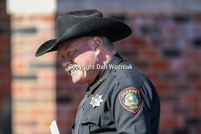 Tarrant County Sheriff, Bill Waybourne, in action during the Servpro First Responder Bowl game between Western Michigan Broncos and the Western Kentucky Hilltoppers at the gerald Ford Stadiuml Stadium in Dallas, Texas.