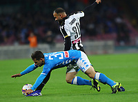 17th March 2019, Stadio San Paolo, Naples, Italy; Serie A football, Napoli versus Udinese;  Amin Younes of Napoli is tripped