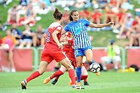 Boyds, MD - Saturday August 12, 2017: Havana Solaun, Katie Stengel during a regular season National Women's Soccer League (NWSL) match between the Washington Spirit and The Boston Breakers at Maureen Hendricks Field, Maryland SoccerPlex.
