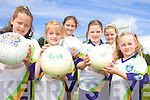 GAA: On the ball last week at the VHI GAA Cu?l Camp in Beaufort were, l-r: Rhiannon O'Donoghue, Ciara O'Sullivan, Fiona Doyle, Aoife O'Brien, Sinead Coffey, Emma Coffey.