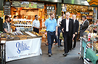 15 June 2017 - Prince Harry with David Gledhill, Operations Manager of Borough Market, during a visit to Borough Market in London which has opened yesterday for the first time since the London Bridge terrorist attack. Photo Credit: ALPR/AdMedia