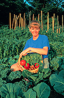Horn of Plenty, Successful Gardener, Vegetables, Produce. Bodil Degginger. Cedar Knolls New Jersey USA suburban home.