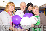 Pictured at the release of Balloons in aid of Womens Aid 1 in 5 Womens Campaign at Ballyspillane Community Centre, Killarney on Tuesday were Marian McCabe, Louis Collier, Michelle Moore and Angela Vermiglio.