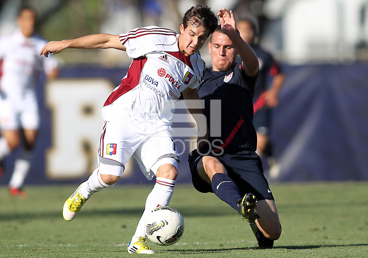 MIAMI, FL - DECEMBER 21, 2012:  Caleb Stanko of the USA MNT U20 during a closed scrimmage with the Venezuela U20 team, on Friday, December 21, 2012, At the FIU soccer field in Miami.  USA won 4-0.