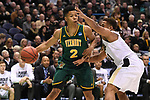 MILWAUKEE, WI - MARCH 16:  Vermont Catamounts guard Trae Bell-Haynes (2) looks for a baseline pass during the first half of the 2017 NCAA Men's Basketball Tournament held at BMO Harris Bradley Center on March 16, 2017 in Milwaukee, Wisconsin. (Photo by Jamie Schwaberow/NCAA Photos via Getty Images)