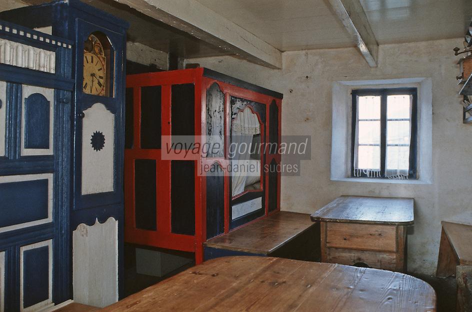 VIle d'Ouessant: Ecomusée de NIOU: Maison des techniques et traditions ouessantines - intérieur