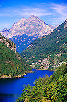 Lago di Vogorno, Verzasca Valley, Ticino, Switzerland