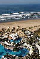 Swimming pools and beach at the Hotel RIU, Nuevo Mazatlan, Sinaloa, Mexico
