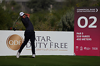 Lars Van Meijel (NED) on the 2nd during Round 1 of the Commercial Bank Qatar Masters 2020 at the Education City Golf Club, Doha, Qatar . 05/03/2020<br /> Picture: Golffile | Thos Caffrey<br /> <br /> <br /> All photo usage must carry mandatory copyright credit (© Golffile | Thos Caffrey)