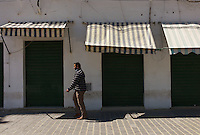 Tripoli, Libya, March 21, 2011.Libya's economic activity has ground to a screeching halt. More than 90% of the shops remain closed. The ancient medina, normally bursling with life seems a ghost town.