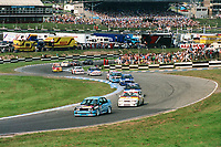 Round 10 of the 1991 British Touring Car Championship. Race action.