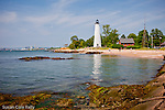 A summer day at Five Mile Point Lighthouse, New Haven, CT, USA