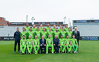 Picture By Allan McKenzie/SWpix.com - 11/04/18 - Cricket - Lancashire County Cricket Club Photo Call Media Day 2018 - Emirates Old Trafford, Manchester, England - Lancashire County Cricket Club Team Photo 2018 with Hill Dickinson Lawyers.