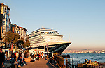 "Nieuw Amsterdam 01 - ""Nieuw Amsterdam"" cruise liner berthed at Karakoy pier, Istanbul, Turkey"