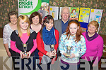 AWARDS: Winners of the Milltown Credit Union Poster Competition (14-17 category), receiving their prizes from Mary O'Shea, Debra O'Brien, Tony Powell and Mary Prendergast of the credit union, front l-r: Aisling Howe, Emer Moore, Sinead Clifford.