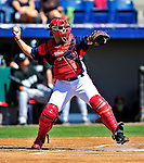 8 March 2010: Washington Nationals' catcher Ivan Rodriguez in action during a Spring Training game against the Florida Marlins at Space Coast Stadium in Viera, Florida. The Marlins defeated the Nationals 12-2 in Grapefruit League action. Mandatory Credit: Ed Wolfstein Photo