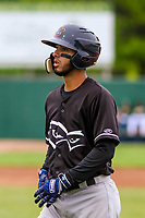 Quad Cities River Bandits second baseman Jonathan Arauz (2) during a Midwest League game against the Beloit Snappers on May 20, 2018 at Pohlman Field in Beloit, Wisconsin. Beloit defeated Quad Cities 3-2. (Brad Krause/Four Seam Images)