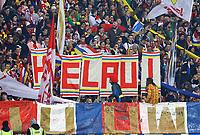 Fans des FSV Mainz 05 sagen Helau - 07.02.2018: Eintracht Frankfurt vs. 1. FSV Mainz 05, DFB-Pokal Viertelfinale, Commerzbank Arena