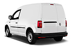 Car pictures of rear three quarter view of a 2019 Volkswagen Caddy Van Base 4 Door Car van angular rear