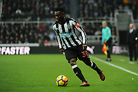 Christian Atsu of Newcastle United during Newcastle United vs Swansea City, Premier League Football at St. James' Park on 13th January 2018