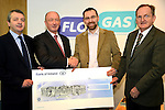 FloGas presentation: from Left: Eoin O'Flynn and Richard Martin of Flogas, Graham O'Rourke and Sean McEntee. www.newsfile.ie www.newsfile.ie