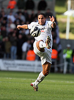 Pictured: Ashley Williams of Swansea City in action <br /> Re: Coca Cola Championship, Swansea City FC v Cardiff City at the Liberty Stadium. Swansea, south Wales, Sunday 30 November 2008.<br /> Picture by D Legakis Photography / Athena Picture Agency, Swansea 07815441513