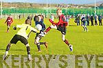 GOAL!!!Park's Jessie O'Sullivan and Inter Kenmare's l-r: John Breen and James Desilva.