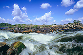 Iriri River, Brazil. Rapids at the confluence of the Xingu River which feeds the Amazon.