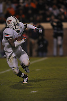28 November 2009:  Virginia Tech RB Ryan Williams (34) rushed for 183 yards and 4 TDs.  .The Virginia Tech Hokies defeated the Virginia Cavaliers 42-13 at Scott Stadium in Charlottesville, VA..