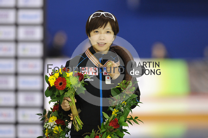 SPEEDSKATING: CALGARY: Olympic Oval, 26-02-2017, ISU World Sprint Championships, Overall Podium Ladies, World Champion Nao Kodaira (JPN), ©photo Martin de Jong