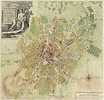 Map of Moscow, 1739. Artist: Michurin, Ivan Fyodorovich (1700-1763)