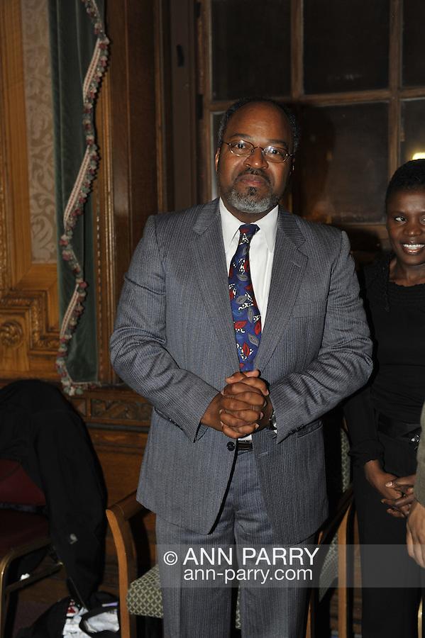 January 11, 2012 - Brooklyn, New York, USA: Henri J. Desrosiers NP,  at 2nd Annual Interfaith Memorial Service for Haiti, Wednesday night at Brooklyn Borough Hall.