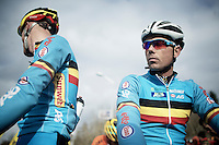 Sven Nys (BEL) on the start grid<br /> <br /> Elite Men's race<br /> <br /> 2015 UCI World Championships Cyclocross <br /> Tabor, Czech Republic