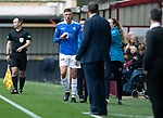 Motherwell v St Johnstone&hellip;20.10.18&hellip;   Fir Park    SPFL<br />Liam Gordon comes off with a bloody nose<br />Picture by Graeme Hart. <br />Copyright Perthshire Picture Agency<br />Tel: 01738 623350  Mobile: 07990 594431