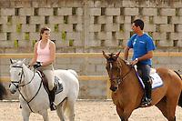 VALENCIA, ESPANHA, 05 DE MAIO 2012 - GP GLOBAL CHAMPIONS HORSE TOUR -  Alvaro Afonso de Miranda (D) e Athina Onasis durante o GP Global Champions Hourse Tour em Valencia na Espanha, ontem sexta-feira, dia 4. (FOTO: RGPNT / ALFAQUI / BRAZIL PHOTO PRESS).