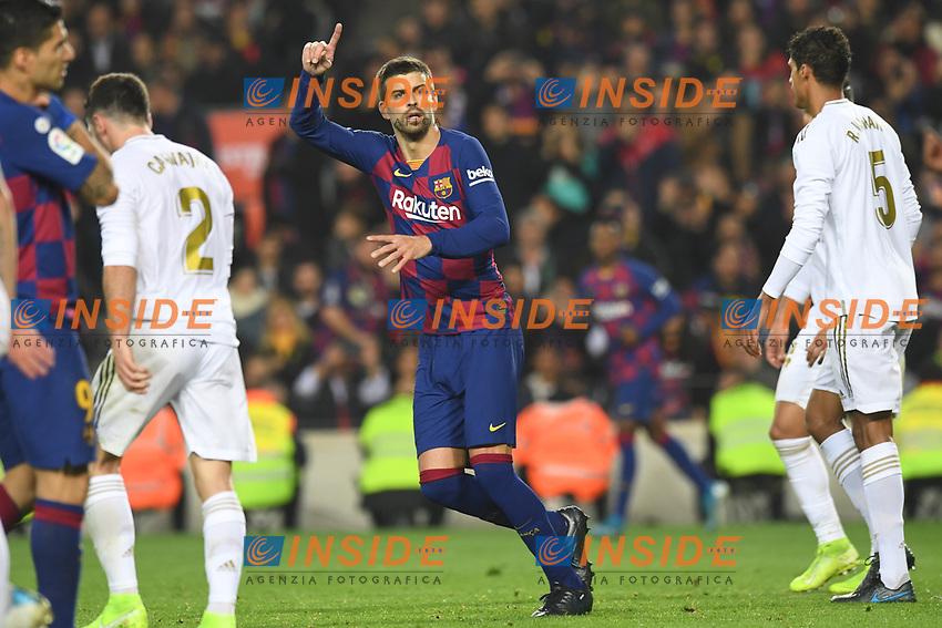 Gerard Pique<br /> 18/12/2019 <br /> Barcelona - Real Madrid<br /> Calcio La Liga 2019/2020 <br /> Photo Paco Largo Panoramic/insidefoto <br /> ITALY ONLY