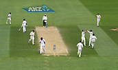 4th December 2017, Basin Reserve, Wellington, New Zealand; International Test Cricket, Day 4, New Zealand versus West Indies;  Colin de Grandhomme celebrates the wicket of Roach