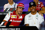 Fernando Alonso (ESP),  Scuderia Ferrari - Lewis Hamilton (GBR), Mercedes GP<br /> for the complete Middle East, Austria &amp; Germany Media usage only!<br />  Foto &copy; nph / Mathis