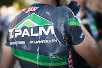 After racing in the 32&deg;C heat all day, the race jerseys are drenched with salt &amp; sweat<br /> <br /> Vlaamse Druivenkoers 2016