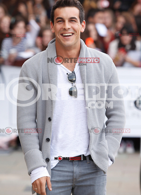 Actor Mario Casas arrives to Maria Cristina hotel, posses and signs autographs during the 61 San Sebastian Film Festival, in San Sebastian, Spain. September 21, 2013. (ALTERPHOTOS/Victor Blanco) /NortePhoto