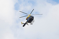 South Yorkshire Police Helicopter patrols over the city centre