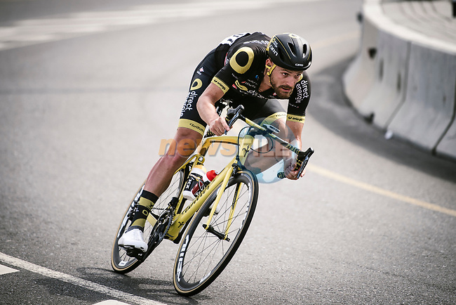 Adrien Petit (FRA) Direct Energie descends during Stage 4 of 10th Tour of Oman 2019, running 131km from Yiti (Al Sifah) to Oman Convention and Exhibition Centre, Oman. 19th February 2019.<br /> Picture: ASO/P. Ballet | Cyclefile<br /> All photos usage must carry mandatory copyright credit (© Cyclefile | ASO/P. Ballet)