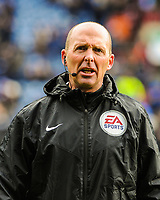 Referee Mike Dean during the EPL - Premier League match between Huddersfield Town and Crystal Palace at the John Smith's Stadium, Huddersfield, England on 17 March 2018. Photo by Stephen Buckley / PRiME Media Images.