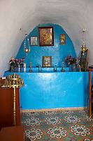 Interior of a greek orthodox chapel, Syros, Greece