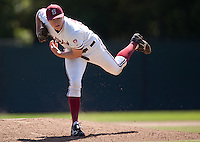 STANFORD, CA - April 17, 2011: Chris Reed of Stanford baseball pitches during Stanford's game against Oregon State at Sunken Diamond. Stanford lost 6-4.