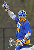 Conor Smith #24 of West Islip reacts after scoring the game-winning goal with 18 seconds remaining in a Suffolk County varsity boys lacrosse game against Northport at Veterans Park in East Northport on Monday, Apr. 18, 2016. He tallied five goals, including two in the final minute of play, to lead West Islip to a 10-9 victory.